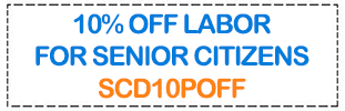 Coupon: 10% off for senior citizens.